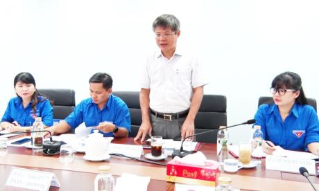 Đồng Chí Trần Công Kha – Phó Bí thư Đảng Ủy, Phó TGĐ VRG phát biểu tại buổi làm việc