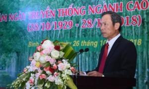 Bí thư Đảng ủy, Chủ tịch HĐQT VRG Trần Ngọc Thuận phát biểu tại lễ kỷ niệm 89 năm truyền thống ngành cao su VN