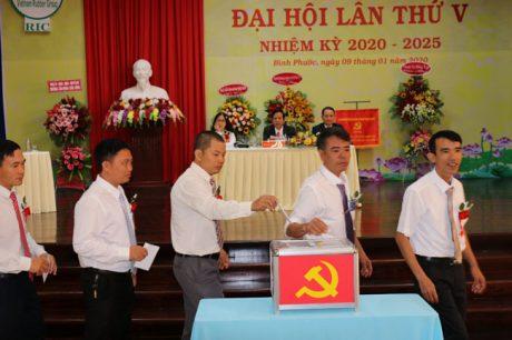 Đại biểu bỏ phiếu bầu BCH nhiệm kỳ mới