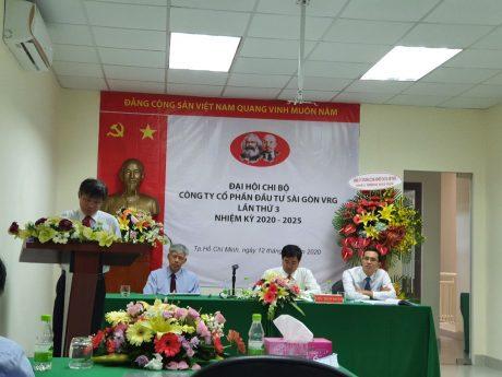/c Trần Công Kha – Phó Bí thư Đảng ủy, Phó TGĐ VRG phát biểu chỉ đạo đại hội