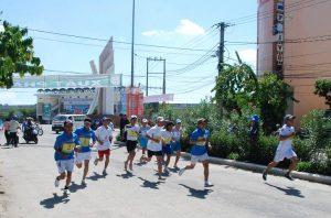 Thi đấu môn Việt dã tại Hội thao khu vực II. Ảnh: P.V