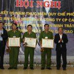 Cao su Sơn La sơ kết phối hợp đảm bảo an ninh trật tự