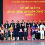 Đồng chí Trần Ngọc Thuận tốt nghiệp xuất sắc Lớp bồi dưỡng dự nguồn cán bộ cao cấp khóa V