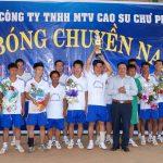 Cao su Chư Prông: Thi đấu bóng chuyền mừng 40 năm thống nhất đất nước