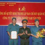 120 CBCNV tham gia Ban chỉ huy Quân sự KCN Nam Tân Uyên