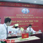 Đại hội Đảng bộ VRG lần thứ VIII sẽ kiểm phiếu bầu bằng máy