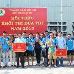 Cơ khí Cao su giành giải nhất Hội thao Khối thi đua số VIII