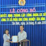 Thành lập CĐ cơ sở Công ty CP KCN Tân Bình
