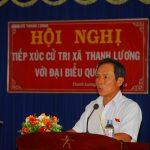Đại biểu Quốc hội Trần Ngọc Thuận báo cáo cử tri kết quả kỳ họp thứ 10