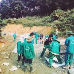 Nông trường Phong Thổ (Cao su Lai Châu) bê tông hóa đường vào trụ sở