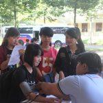 Thanh niên Trường Cao đẳng CN Cao su hiến máu