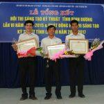 Cao su Phước Hòa đạt 3 giải Sáng tạo kỹ thuật tỉnh Bình Dương