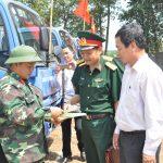 Kiểm tra, huấn luyện phương tiện kỹ thuật vận tải Cao su Lộc Ninh