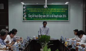 Quang cảnh buổi họp BCH VRA.