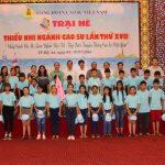 146 em thiếu nhi tham gia trại hè khu vực Tây Nguyên –miền Trung