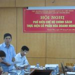 Phổ biến chính sách cổ phần hóa cho 43 cán bộ chủ chốt Cao su Thanh Hóa