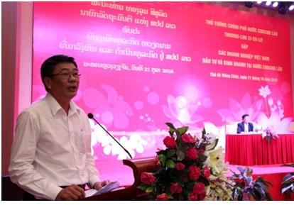 Ông Nguyễn Tiến Đức - Phó TGĐ VRG phát biểu tại Hội nghị.