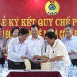 Công đoàn CSVN ký quy chế phối hợp với Liên đoàn lao động Nghệ An