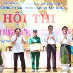 Sa Ray đạt giải nhất Hội thi bàn tay vàng Cao su Tây Ninh