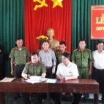 Công ty CPCS Sa Thầy ký quy chế phối hợp với Công an huyện Ia H'Drai