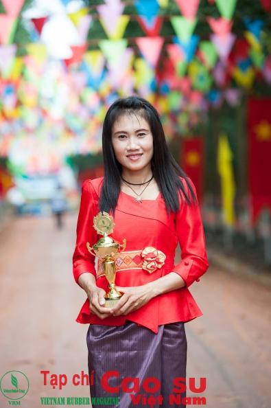 Nàng Vi tại Hội thi Bàn tay vàng 2016. Ảnh: Tùng Châu.