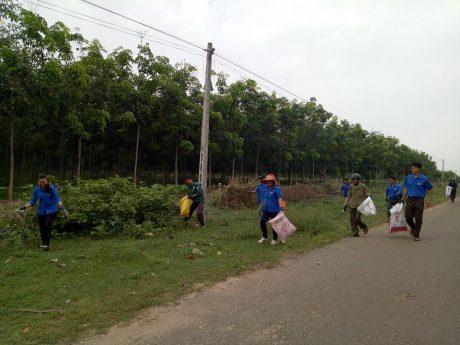 Đoàn viên thanh niên NT Thanh An tổ chức ra quân Thứ bảy tình nguyện
