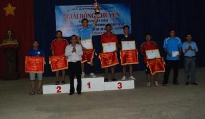 Trao thưởng cho các đội đạt thành tích tại buổi giao lưu