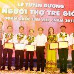 6 thanh niên VRG được tuyên dương Người thợ trẻ giỏi