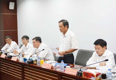 Đ/c Trần Ngọc Thuận, Bí thư Đảng ủy - TGĐ VRG trình bày các kiến nghị
