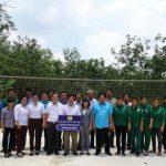 Công đoàn CSVN hỗ trợ 50 triệu đồng xây sân bóng chuyền