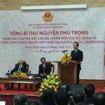 TGĐ VRG Trần Ngọc Thuận báo cáo Tổng Bí thư Nguyễn Phú Trọng về chương trình trồng cao su ở Campuchi...