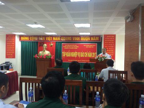 Quang cảnh lớp Tập huấn Nghiệp vụ Báo chí 2017