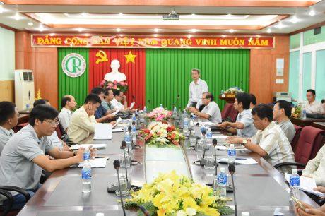 Quang cảnh buổi họp các trưởng đoàn
