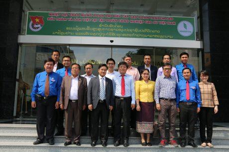 VRG tiếp đoàn cán bộ cấp cao TW Đoàn TN NDCM Lào