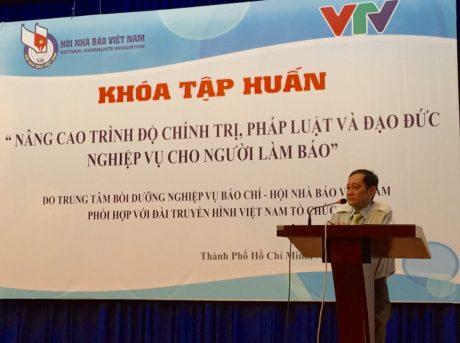 Nhà báo Nguyễn Bé – Phó Chủ tịch Hội Nhà báo Việt Nam