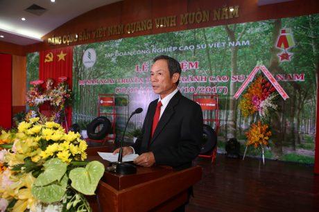 Bí thư Đảng ủy, TGĐ VRG Trần Ngọc Thuận phát biểu tại buổi lễ