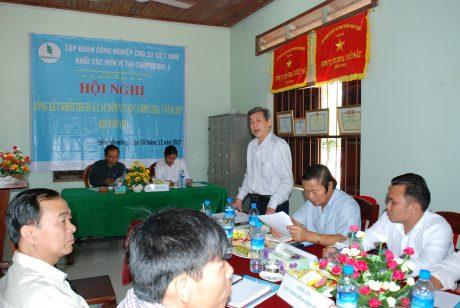 Ông Hứa Ngọc Hiệp - Phó TGĐ VRG phát biểu tại hội nghị.