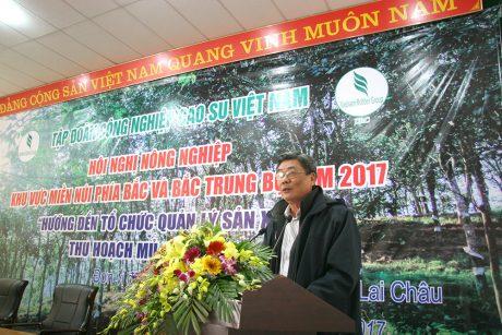 Ông Nguyễn Tiến Đức – Phó TGĐ VRG phát biểu tại hội nghị