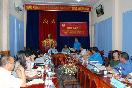 Lãnh đạo CĐ CĐVN phát biểu tại hội nghị