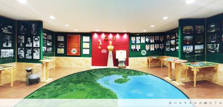 Giao diện sảnh chính của Phòng truyền thống 3D.