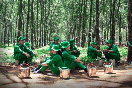 Phút giải lao. Ảnh: Phạm Thuận.