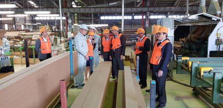 Đoàn công tác của VRG tham quan nhà máy chế biến gỗ Nhật Bản