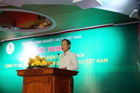 Ông Trần Ngọc Thuận - Bí thư Đảng ủy, TGĐ VRG phát biểu chỉ đạo tại Hội nghị