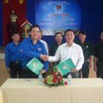 Đoàn Thanh niên Cao su Bà Rịa ký thi đua với 2 đoàn thể