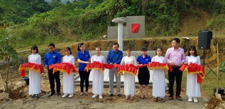 Đoàn TN VRG cắt băng khánh thành công trình nước sạch tại Quảng Nam
