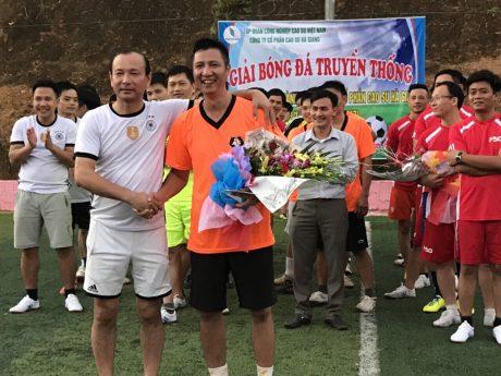 Giao lưu bóng đá kỷ niệm 10 năm thành lập Công ty CPCS Hà Giang.