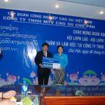 Hội liên hiệp phụ nữ Lào thăm Công ty Chư Păh