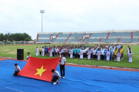 Khai mạc Hội thao CNVC LĐ VRG khu vực Đông Nam bộ vào năm 2016. Ảnh: Phan Thắng.