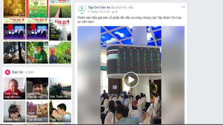 Tạp chí Cao su VN phát video trực tiếp phiên IPO Công ty mẹ VRG.