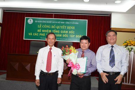 Trao quyết định bổ nhiệm TGĐ VRG cho ông Huỳnh Văn Bảo